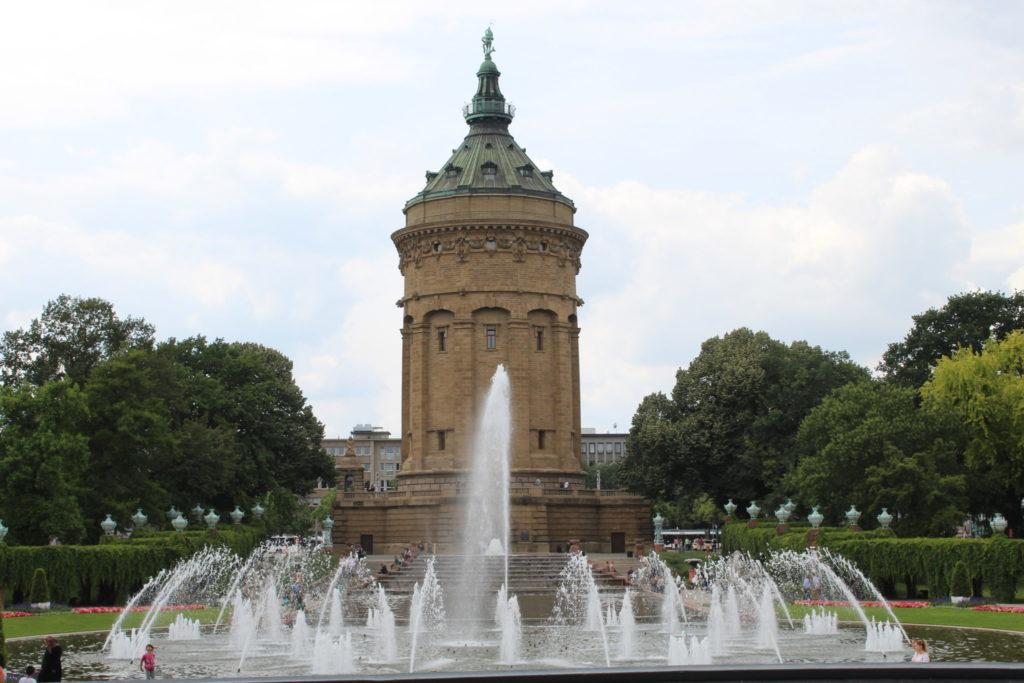 Wasserturm, die berühmteste Sehenswürdigkeit Mannheims