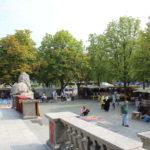 Samstags Flohmarkt vor der Markthalle