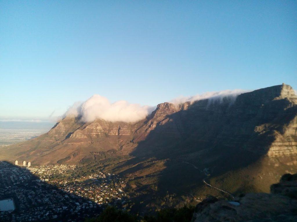 Blick vom Lion´s Head auf den Tafelberg