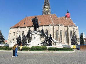 Matthias Corvinus Denkmal in Cluj-Napoca